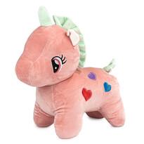 Egyszarvú plüss játék, rózsaszín, 40 cm