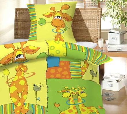 Dětské bavlněné povlečení Žirafy