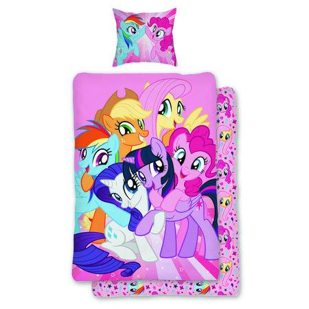 Lenjerie de pat Jerry Fabrics My Little Pony, de copii, din bumbac, 140 x 200 cm, 70 x 90 cm