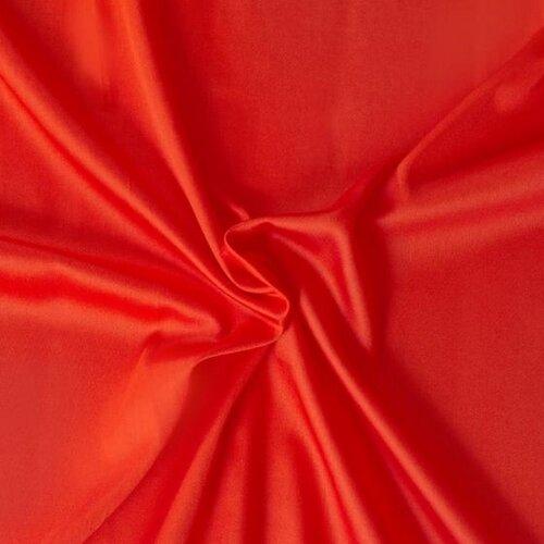 Saténové prostěradlo červená, 90 x 200 cm