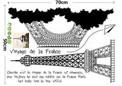 Naklejka dekoracyjna Wieża Eiffla czarny