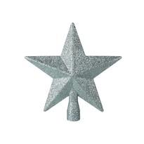 Glitter star karácsonyfa csúcsdísz, zöld