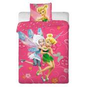 Dětské bavlněné povlečení Fairies pinkie, 140 x 200 cm, 70 x 90 cm