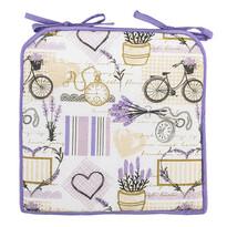 4Home Prešívaný sedák Lavender, 40 x 40 cm