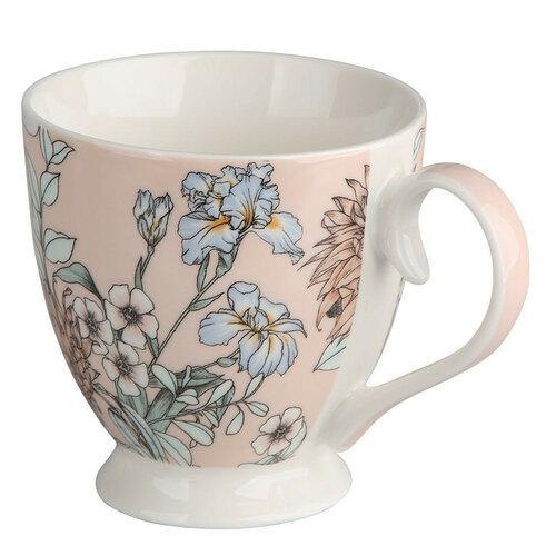 Altom Porcelánový Jumbo hrnček Pink Flowers 420 ml