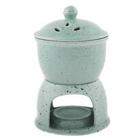 Aroma-lampă ceramică și cuptor de mere 2 în 1, verde