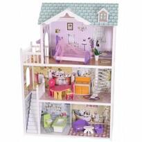 Ecotoys Domček pre bábiky Barbie Beverly Hills, 84 x 38 x 124 cm