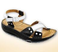 Orto Plus Dámské sandály s aktivní podrážkou vel. 36 černobílé