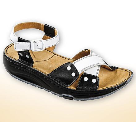 Orto Plus Dámské sandály s aktivní podrážkou vel. 37 černobílé