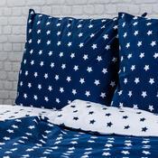 4Home Bavlněné povlečení Stars Navy blue, 220 x 200 cm, 2 ks 70 x 90 cm
