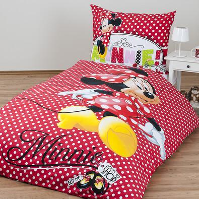 Detské bavlnené obliečky Minnie shopping, 140 x 200 cm, 70 x 90 cm