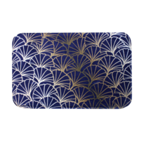 Covoraș din spumă cu memorie Domarex Ginkgo, albastru închis, 38 x 58 cm