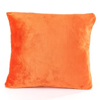 Polštářek Mikroplyš oranžová, 40 x 40 cm