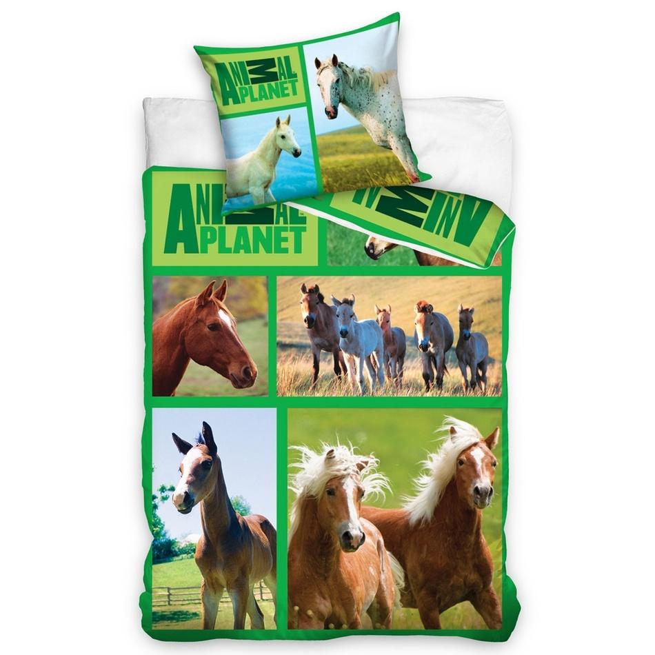 Carbotex povlečení Animal Planet - Koně na louce 140x200 70x80, 160 x 200 cm, 70 x 80 cm