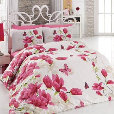 Bavlněné povlečení Alize Pink, 140 x 200 cm, 70 x 90 cm + 50 x 70 cm