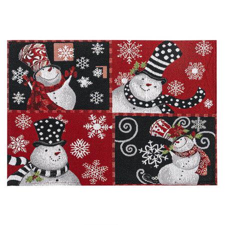 Hóemberek karácsonyi alátét, 32 x 48 cm