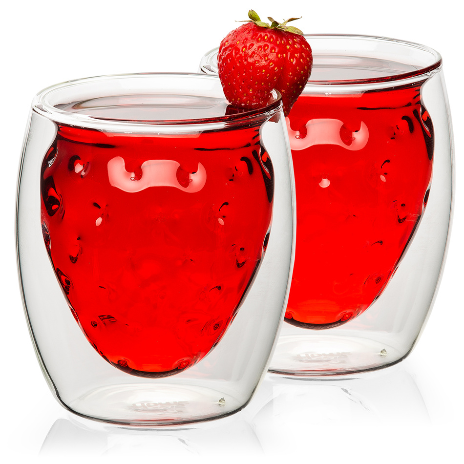 4home Termo sklenice Strawberry Hot&Cool, 250 ml, 2 ks