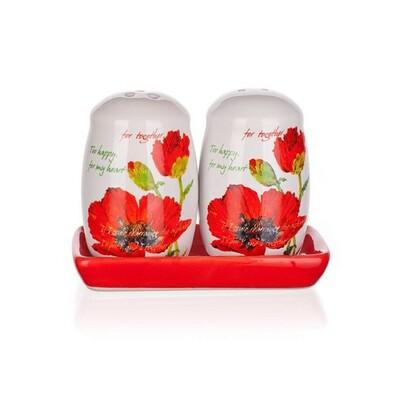 BANQUET Red Poppy soľnička a korenička