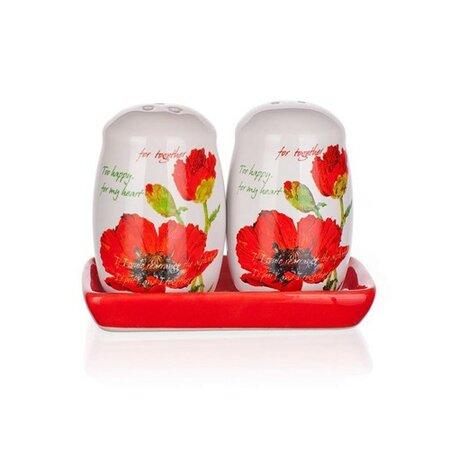 BANQUET Soľnička a korenička Red Poppy