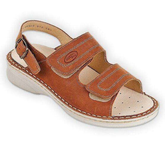 Orto Plus Dámske vychádzkové sandály hnedé vel. 42