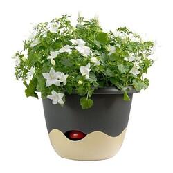 Plastia Samozavlažovací kvetináč Mareta sivá + béžová, pr. 30 cm