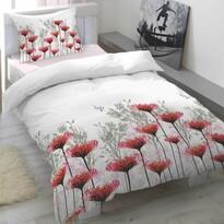 Pościel satynowa Portia Cranberry, 140 x 200 cm, 70 x 90 cm