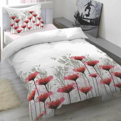 Portia Cranberry szatén ágyneműhuzat, 140 x 200 cm, 70 x 90 cm