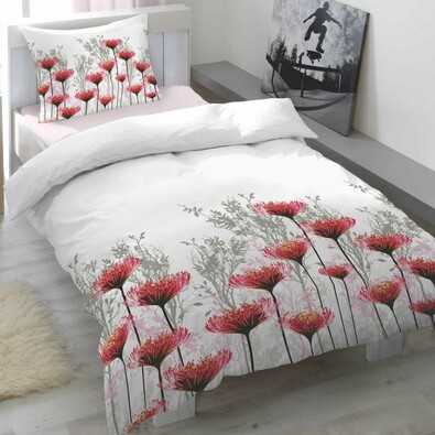 Saténové povlečení Portia Cranberry, 140 x 200 cm, 70 x 90 cm
