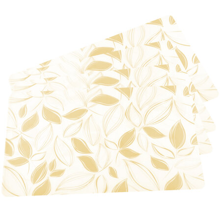 Suport farfurie Frunze bej, 43 x 28 cm, set 4 buc.