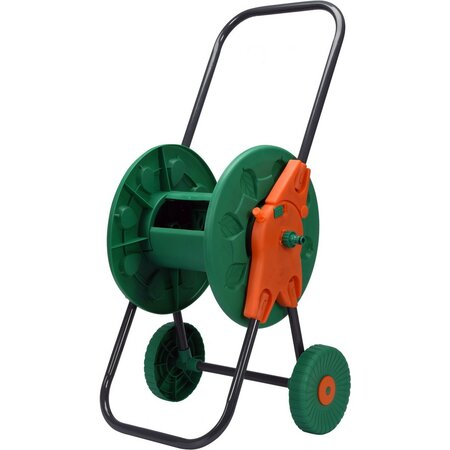 FLO TO-89336 navíjecí stojan na zahradní hadici s kolečky, 60 m