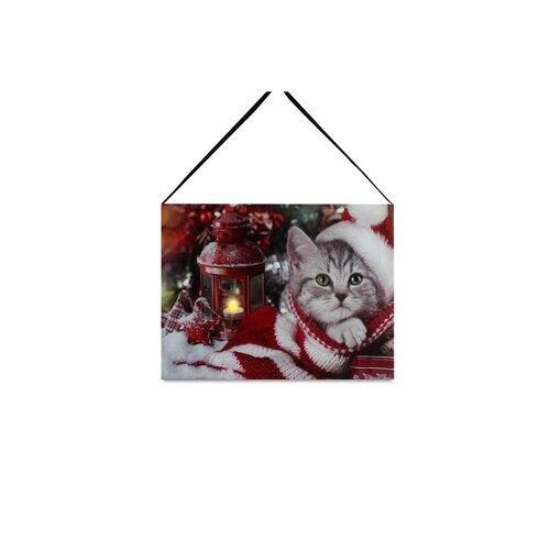 LED obraz na plátně Kitten, 20 x 15 cm