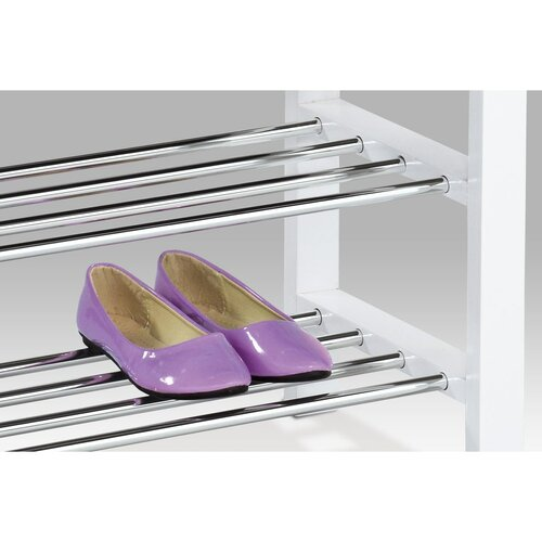 Półka na buty z siedziskiem 2 piętra, biały