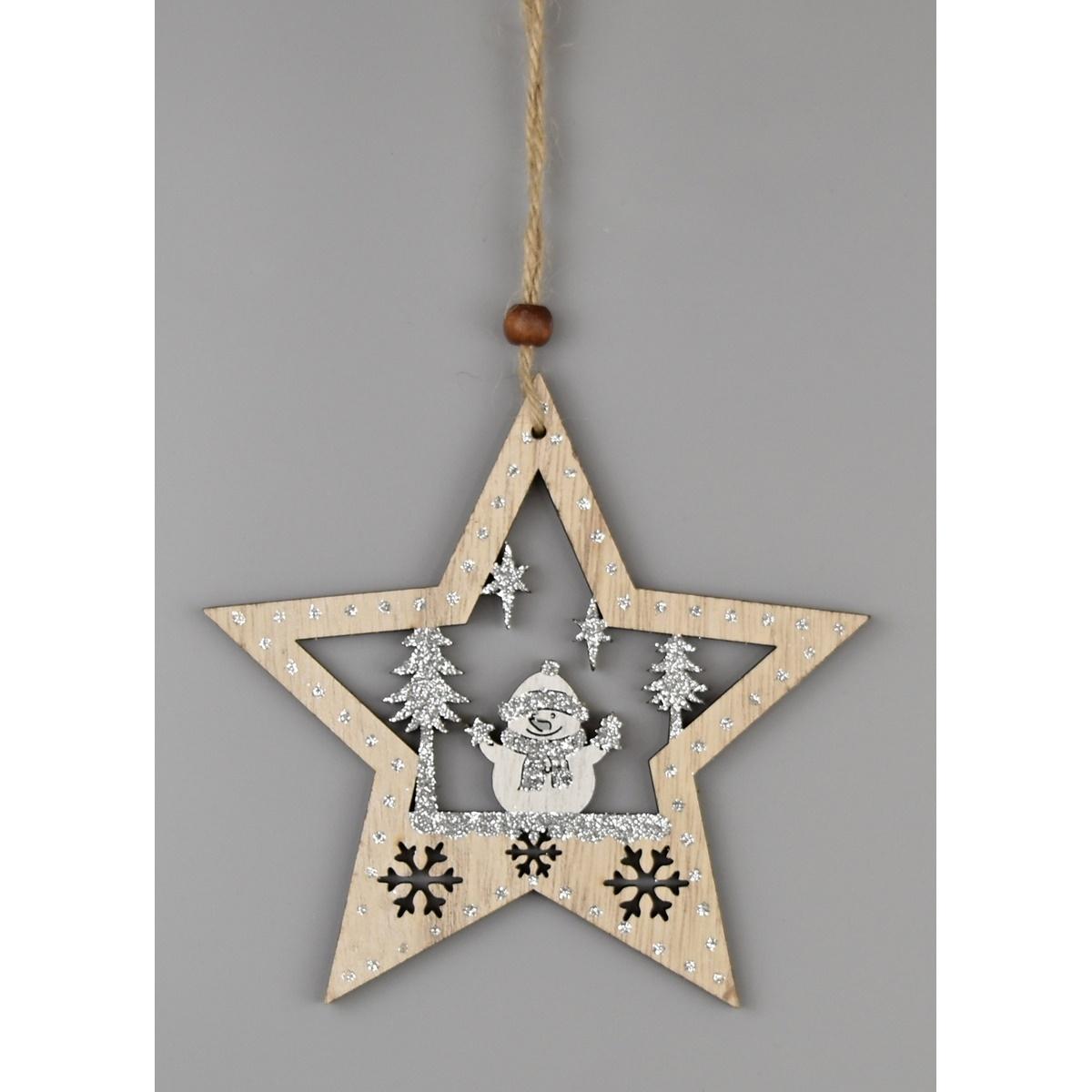 Vánoční závěsná dekorace Christmas star, 23 cm