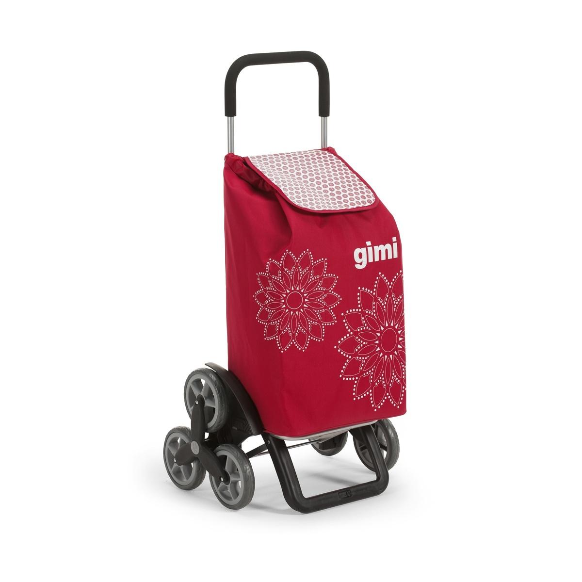 Tris Floral červená nákupná taška