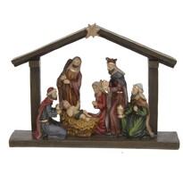 Csillag Betlehem felett karácsonyi  dekoráció, 20,3 x 5,5 x 15 cm