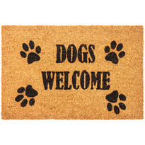 Dogs Welcome kókusz lábtörlő, 40 x 60 cm
