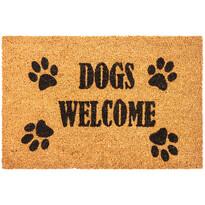 Kokosová rohožka Dogs Welcome, 40 x 60 cm