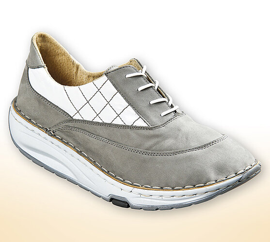 Dámske topánky s aktívnou podrážkou, biela + sivá, 38