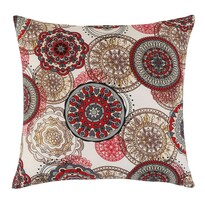 Poduszka Adela Mandala czerwony, 40 x 40 cm