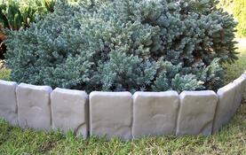 Záhradná palisáda - obrubník, 2,5 m sivá