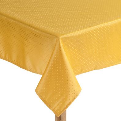 Ubrus s nešpinivou úpravou žlutý, 120 x 140 cm