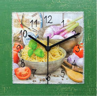 Nástěnné hodiny Pestra italská kuchyně