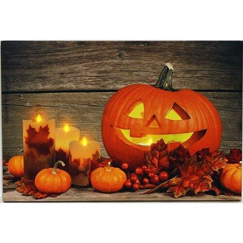 LED Obraz na plátne Pumpkin, 60 x 40 cm