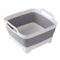 4Home Składana silikonowa umywalka Clean z odpływem