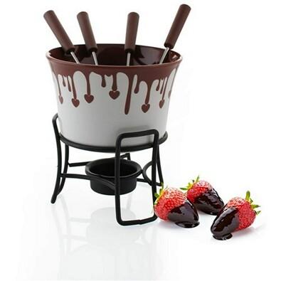 Banquet Choco Dark fondue set