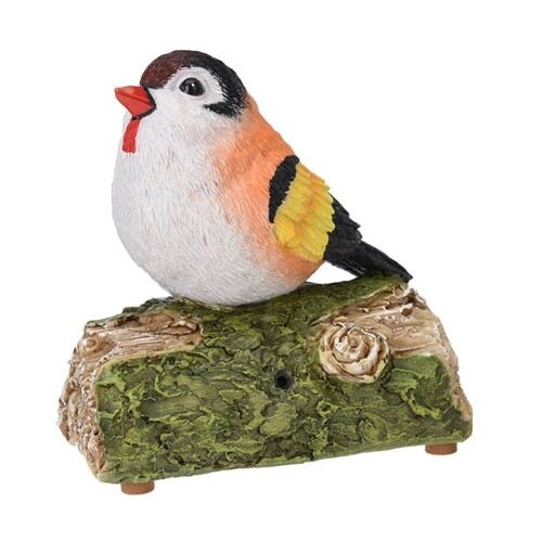 Záhradná dekorácia Vtáčik so zvukmi, 13,5 x 7 x 13 cm