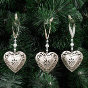 Kovové vánoční ozdoby, sada 9 ks