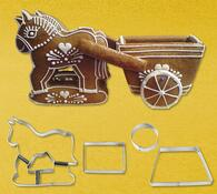 Vykrajovátko na perníčky - povoz s koňmi