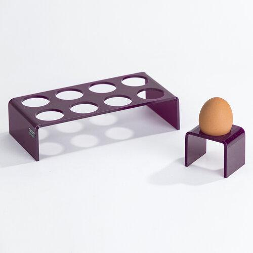 Tacka na jajka Egg Tray, fioletowa
