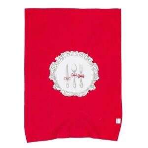 Kuchyňská utěrka Alice červená, 50 x 70 cm